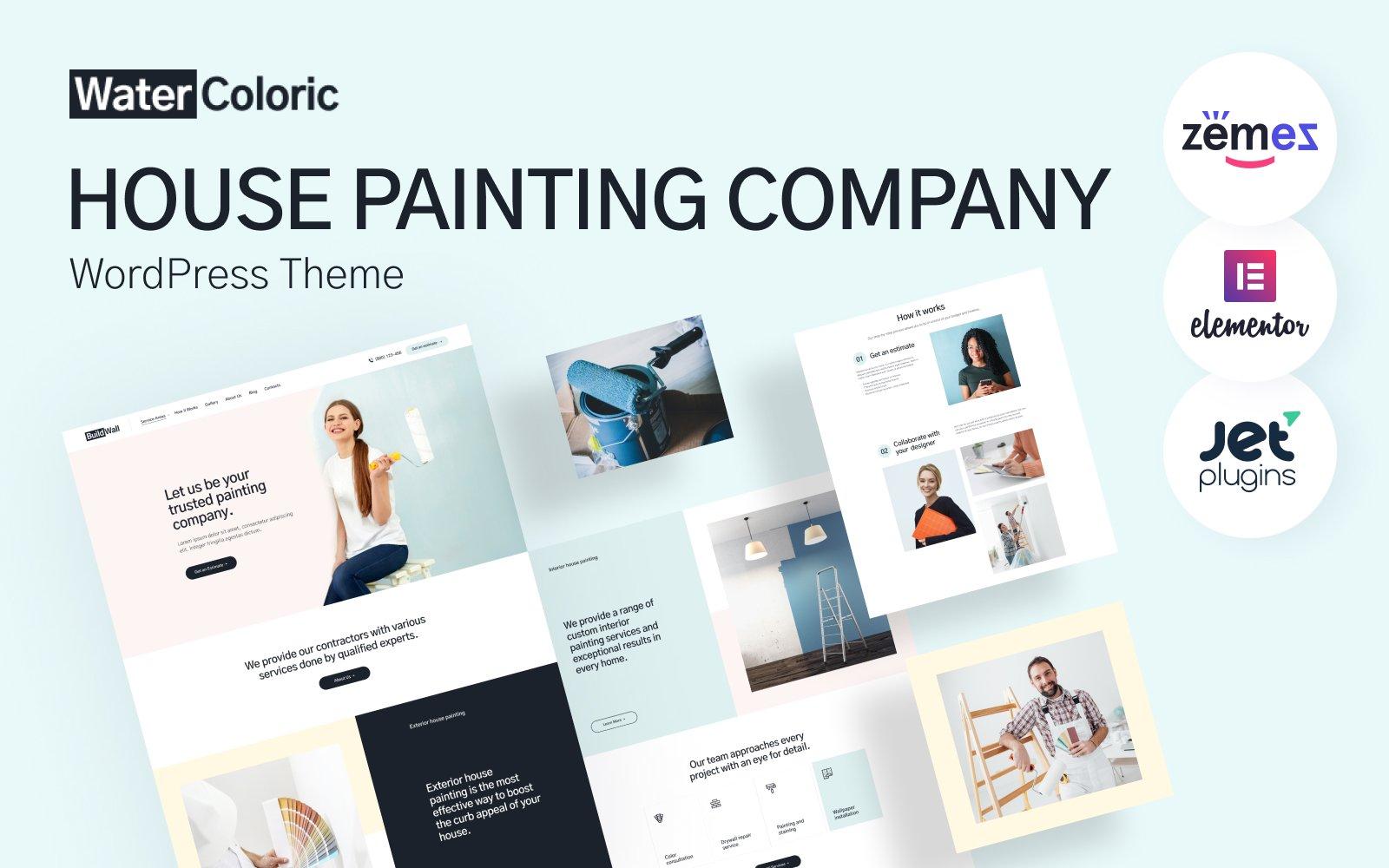 WaterColoric - House Painting Company Tema WordPress №114815