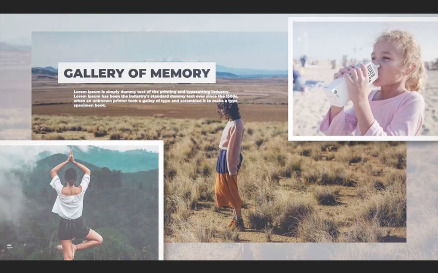 Gallery of Memories Premiere Pro Template