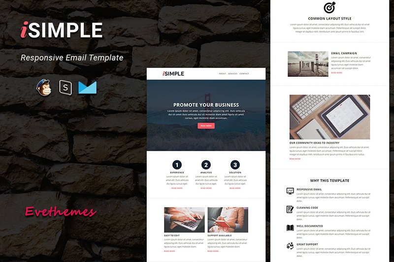 iSimple - Responsive Email Newsletter Template