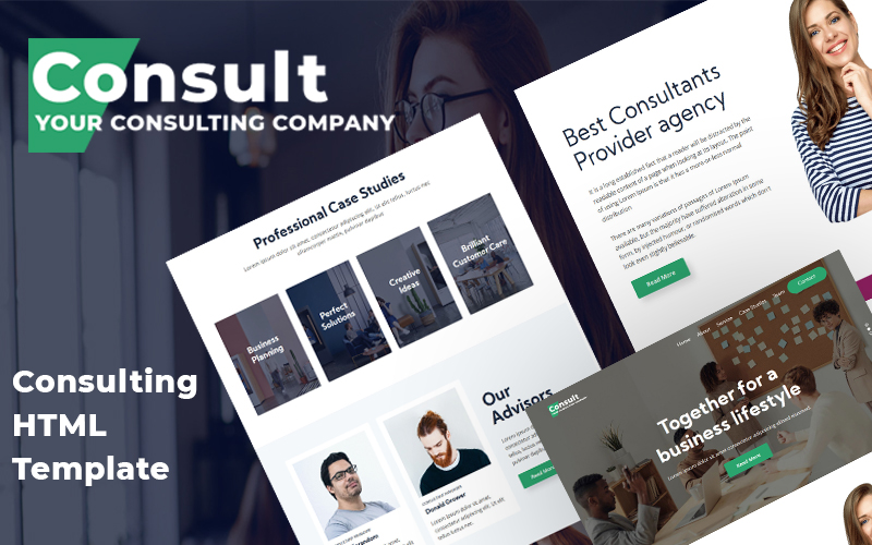 Reszponzív Consult - Consultation Firm Weboldal sablon 115070