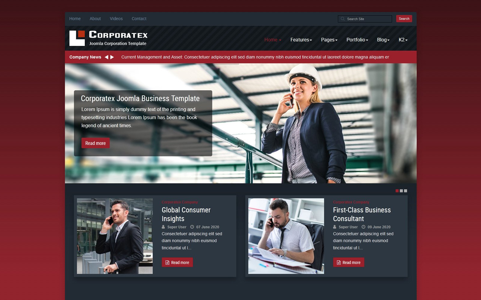 Reszponzív Corporatex Business-Corporation Joomla sablon 115073