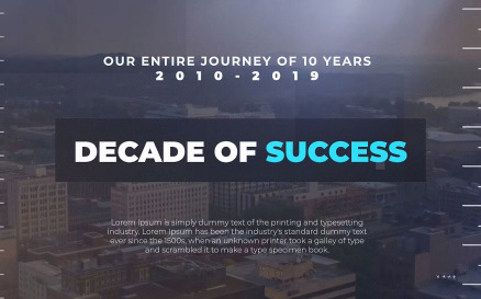 Decade of Success Premiere Pro Template
