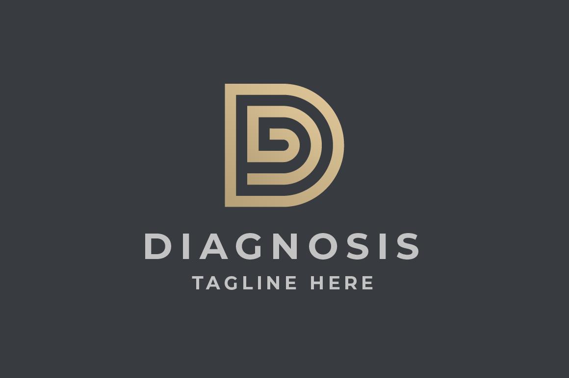 "Tema di Loghi #115113 ""Diagnosis Letter D"""
