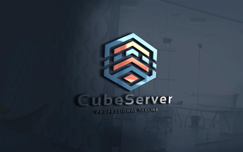 """Template di Loghi #115147 """"Cube Server"""""""