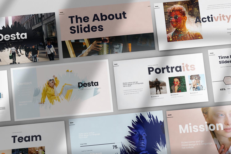 """Modello Google Slides #115403 """"Desta"""""""