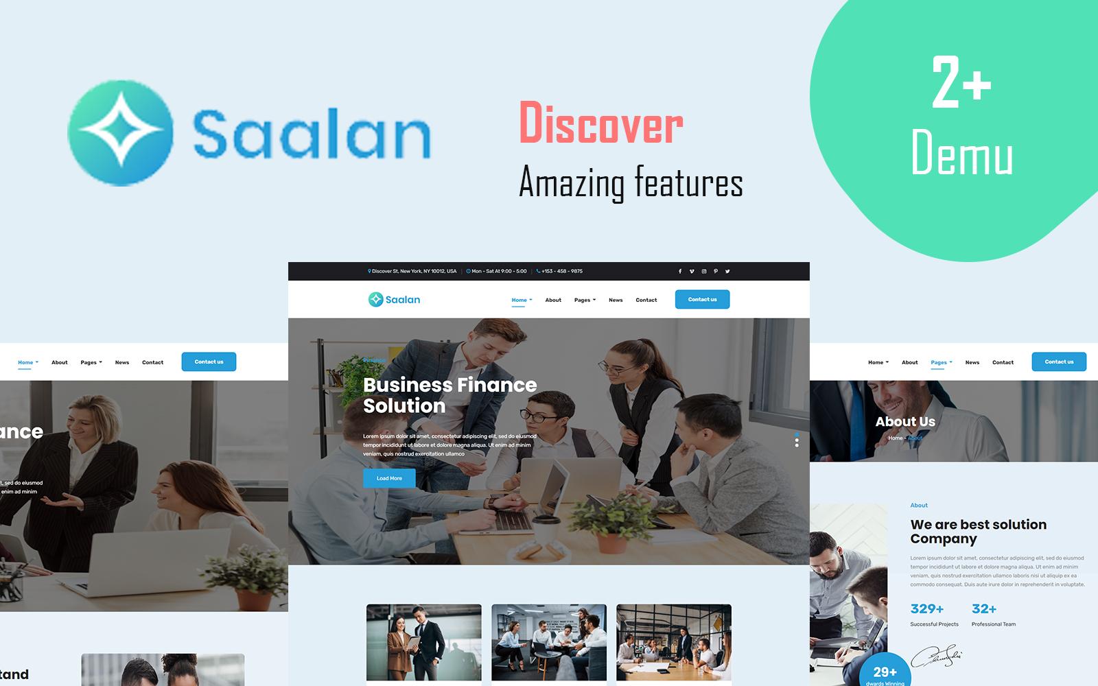 """Saalan - Responsive Multipurpose Corporate Business"" Responsive Website template №115415"