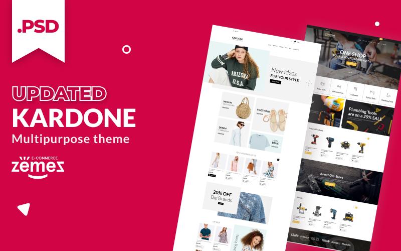 """KarDone - Multipurpose Designs"" Responsive PSD Template №115558"