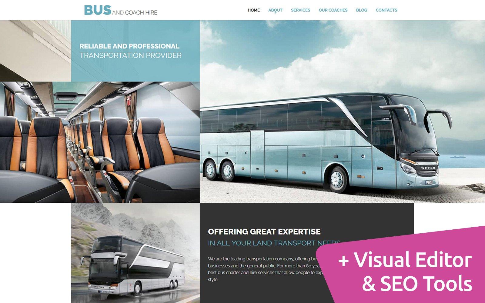 Responsywny szablon Moto CMS 3 Bus Company #115557