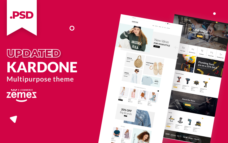 Reszponzív KarDone - Multipurpose Designs PSD sablon 115558