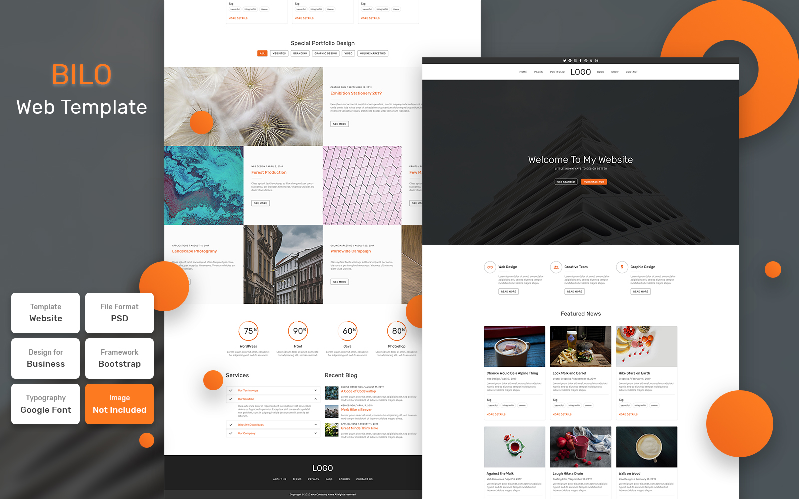 Bootstrap Bilo - Business Material Psd #115715