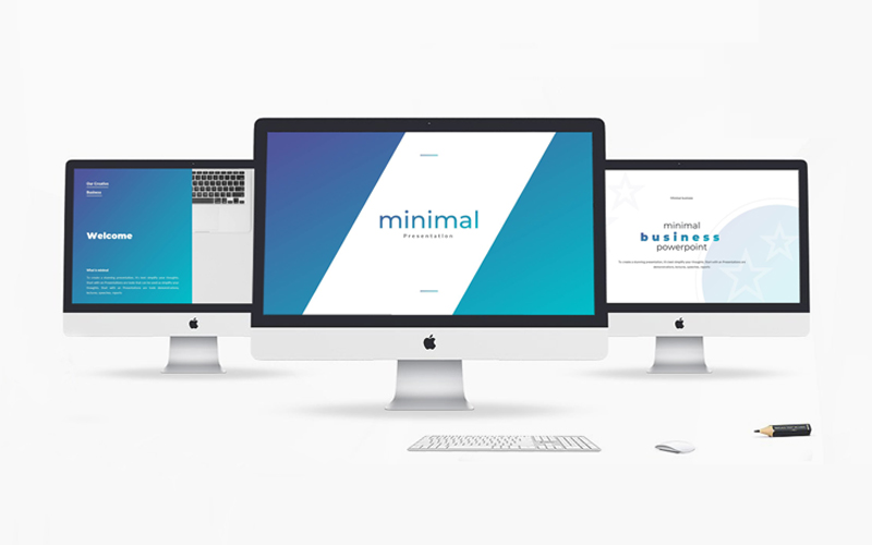 """Business Minimal Presentation"" modèle PowerPoint  #115706"