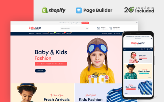 Baby Wear Clothing Store Shopify Theme