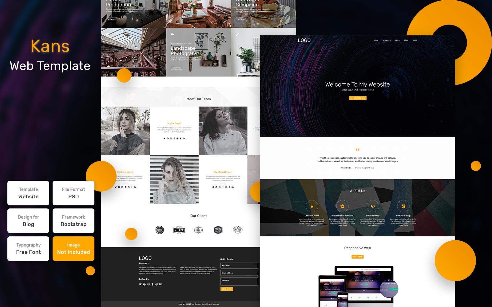 Bootstrap Kans - Business Material Psd #115844