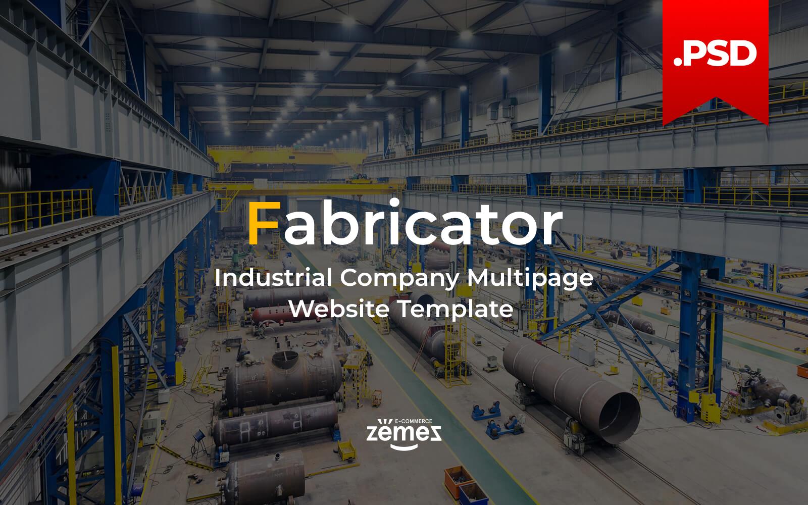"""Fabricator - Industrial Company Multipage"" modèle PSD adaptatif #115848"