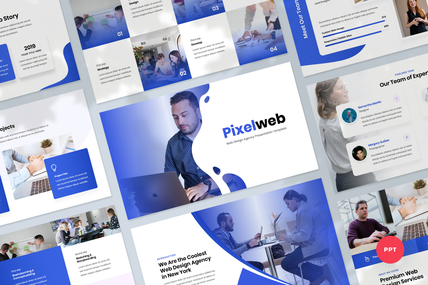 Web Design Agency Presentation PowerPoint Template
