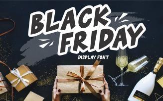 Black Friday - Display Font