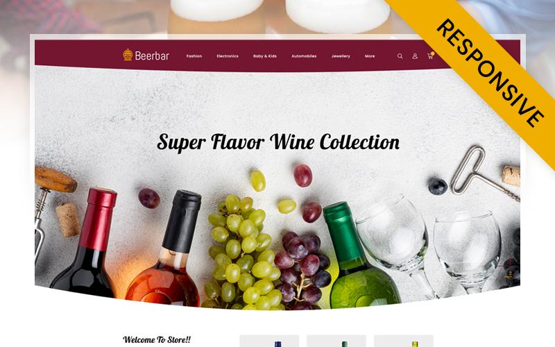 """Beerbar - Wine Store"" - адаптивний PrestaShop шаблон №115956"