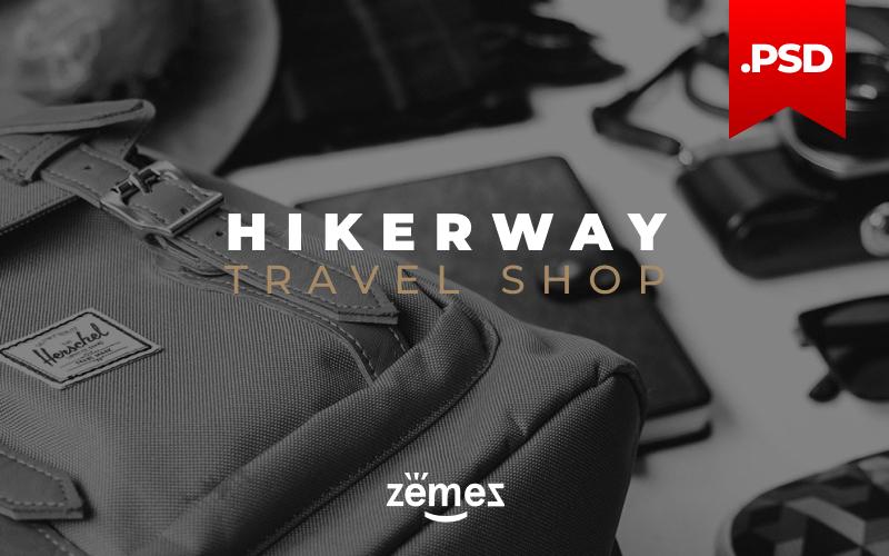 """Hiker Way - Travel Store Multipage Modern"" modèle PSD adaptatif #115962"