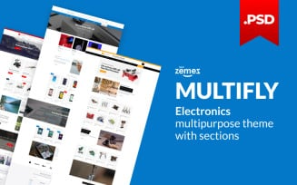 Multifly - Multipurpose Electronics Online Store PSD Template