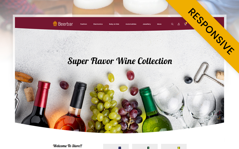 Responsive Beerbar - Wine Store Prestashop #115956