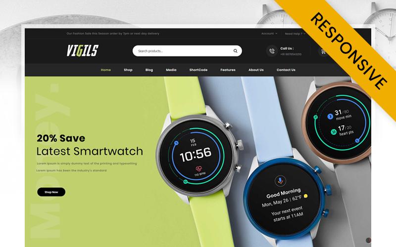 Responsive Vigils - Smart Watch Store Woocommerce #115961