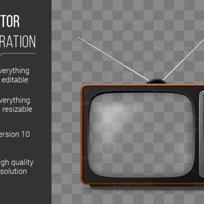 Retro TV - Vector Image Vector #115907