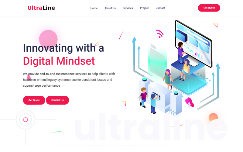 Ultraline - Laravel Business Website Template