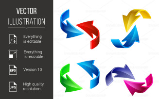 Coloured Arrow - Vector Image