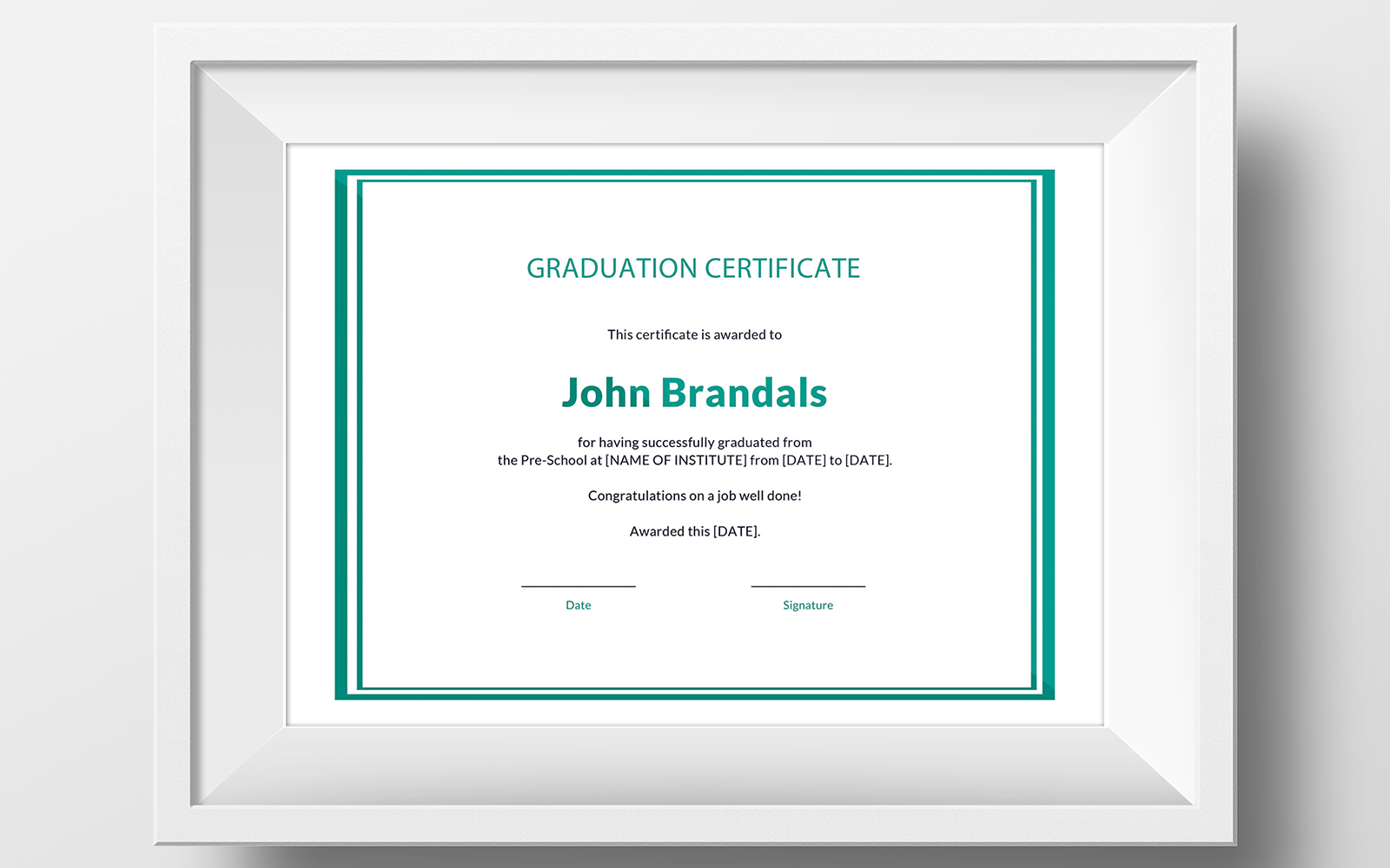 Free High School Graduation Template de Certificado №116141