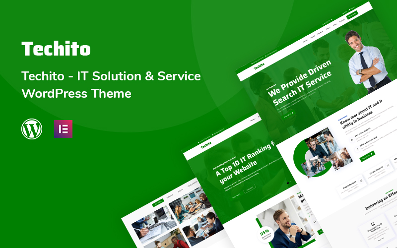 """Techito - IT Solution and  Service"" - адаптивний WordPress шаблон №116138"