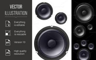 Speakers - Vector Image