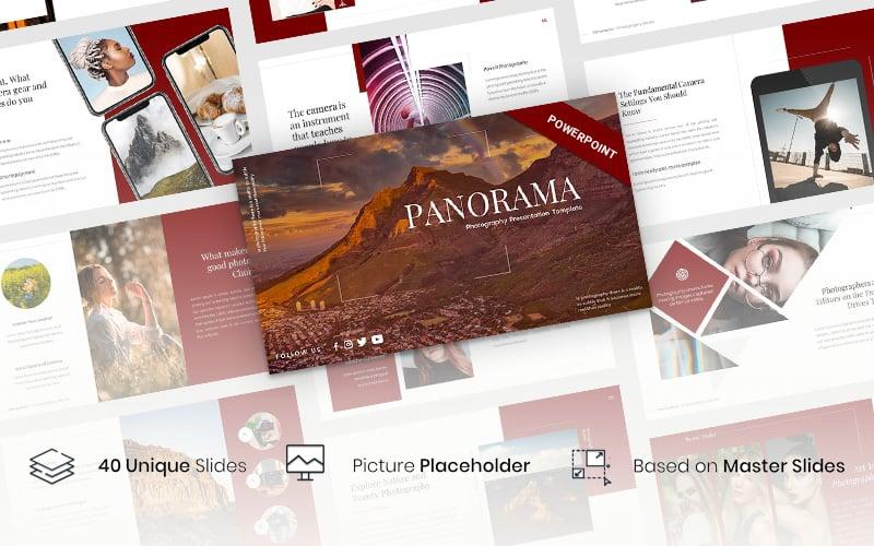 """Panorama - Photography Presentation"" modèle PowerPoint  #116358"