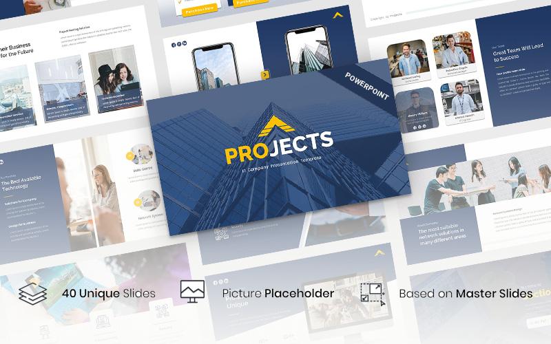 """Projects - IT Company"" modèle PowerPoint  #116357"