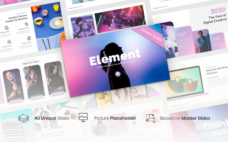 "Template Google Slides #116347 ""Element - Creative Business"""