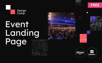 DesignCamp - Free Modern Event Landing Page Platform WordPress Theme