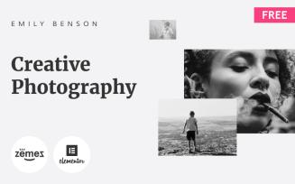 Emily Benson - Free Photography One Page WordPress Theme