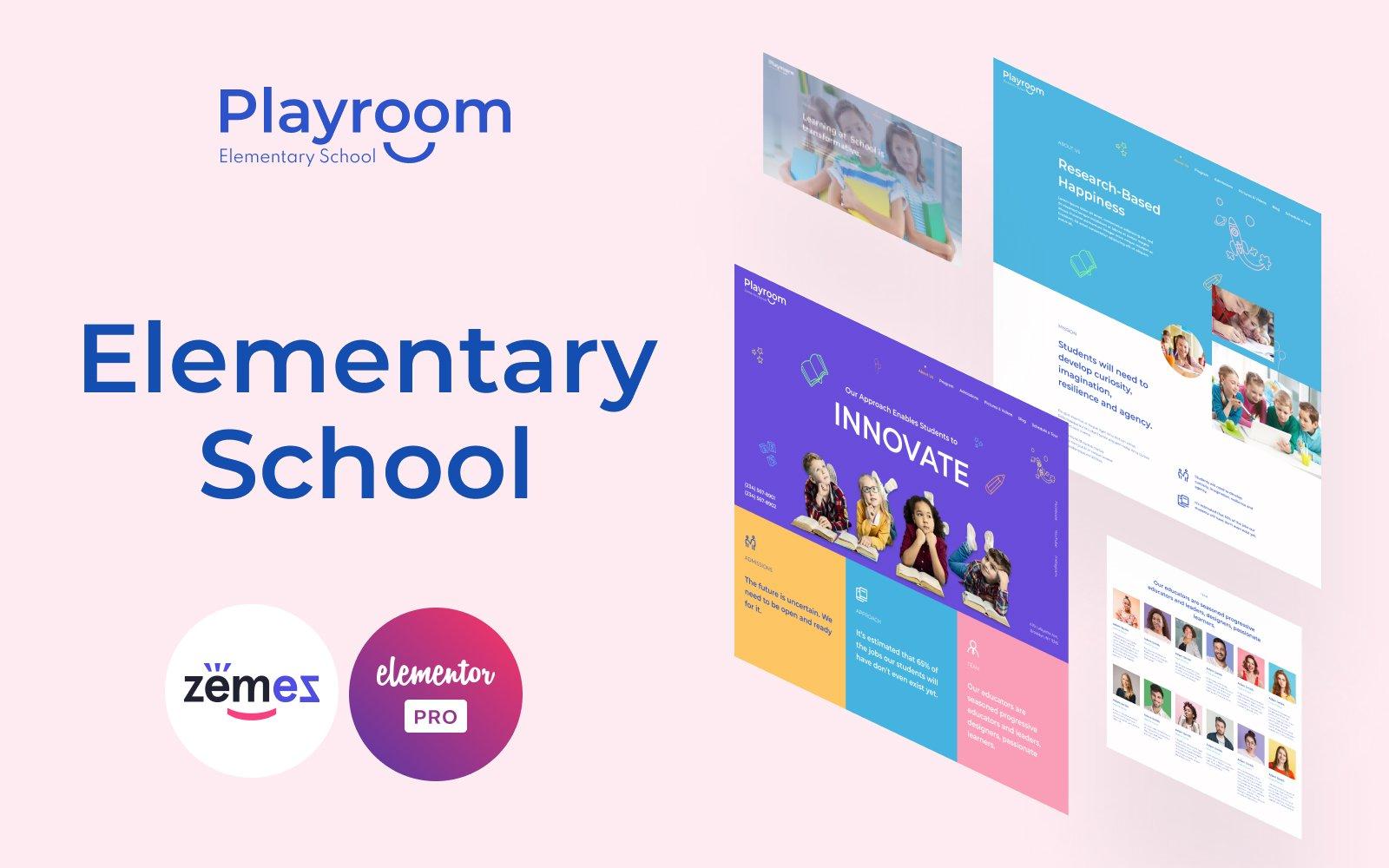"""Playroom - Elementary School"" Responsive Elementor Template №116425"