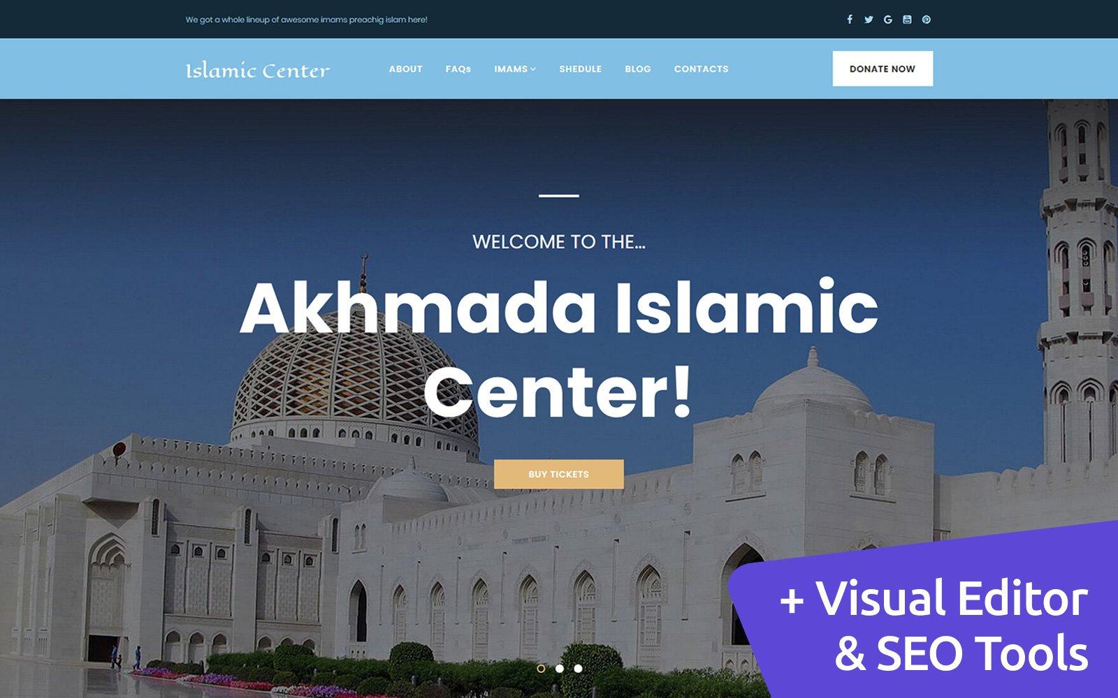 Reszponzív Islamic Center Moto CMS 3 sablon 116433