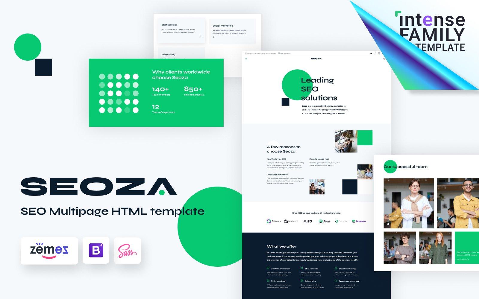"""Seoza - SEO Agency HTML"" Responsive Website template №116432"