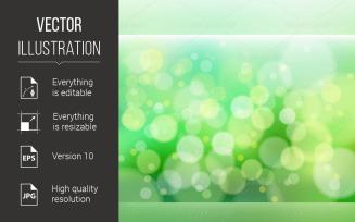 Green Defocus Lights - Vector Image