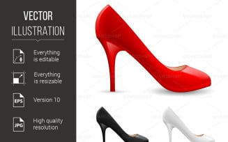 Womens Shoes - Vector Image