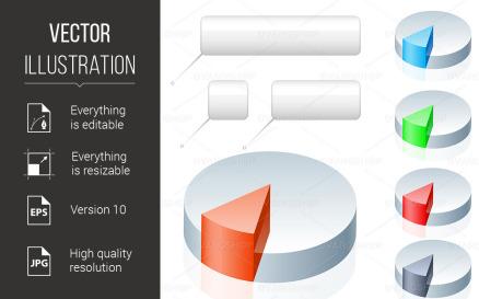 Pie Chart Vector Graphic