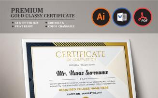 Premium Gold Classy