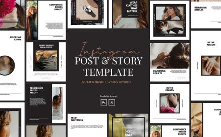 Elegant Beauty Company Instagram Template for Social Media