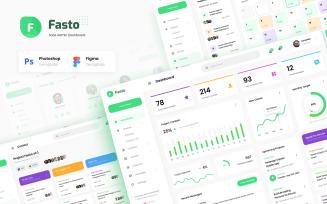 Fasto - Saas Admin Dashboard UI Design Template Figma PSD