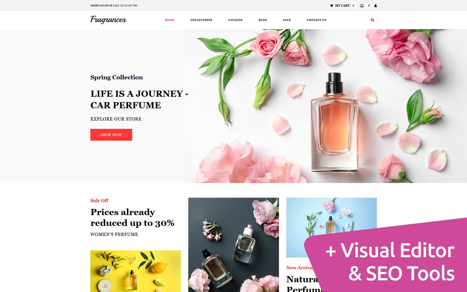 Fragrances - Perfume Store Template Ecommerce MotoCMS №116747