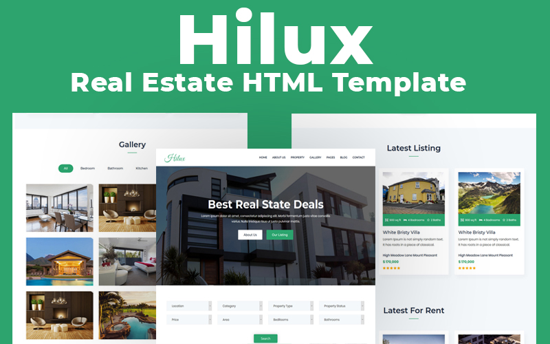 """Hilux - Real Estate Multipurpose HTML"" modèle web adaptatif #116745"