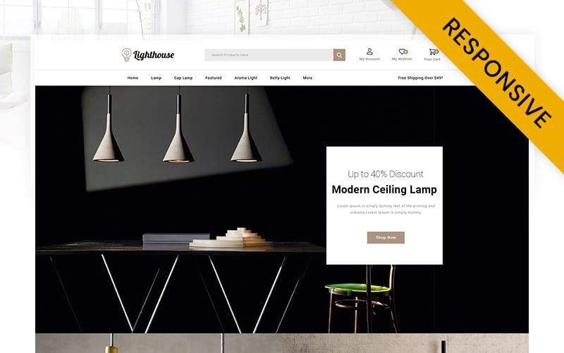 """LightHouse  - Modern Lamp Store"" 响应式OpenCart模板 #116746"