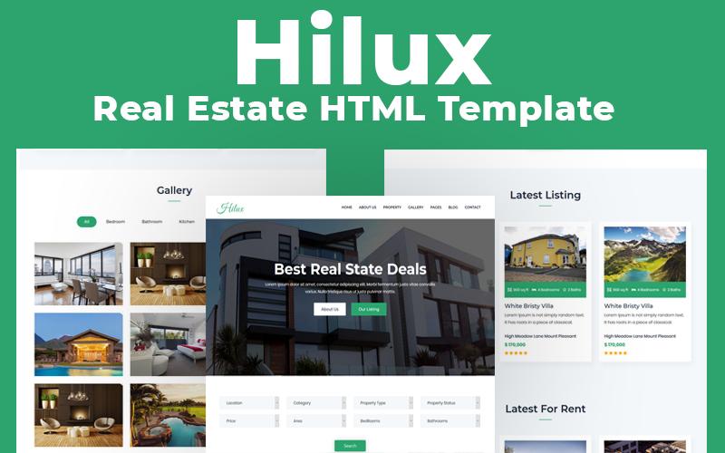 """Website Vorlage namens """"Hilux - Real Estate Multipurpose HTML"""" #116745"""