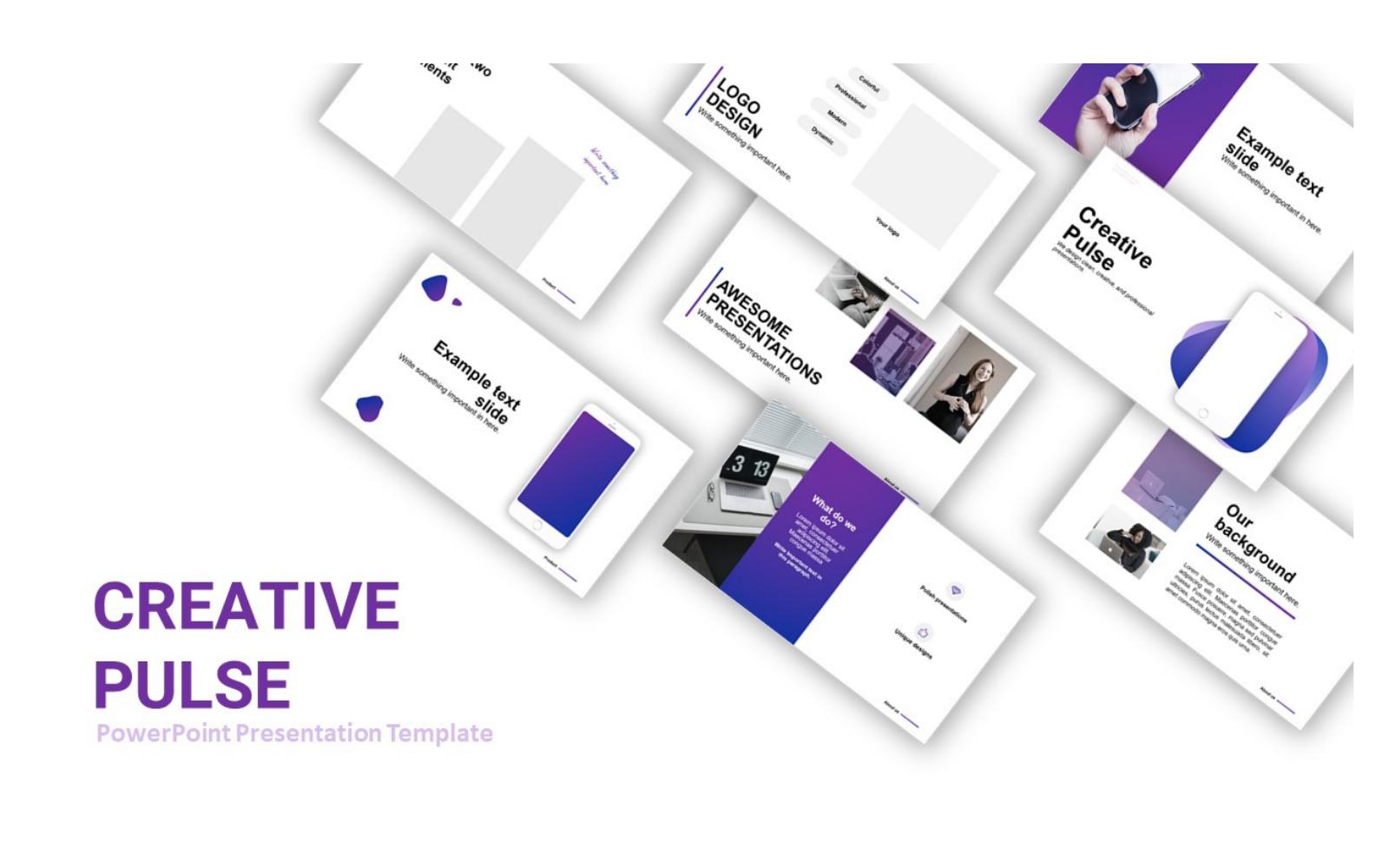 CreativePulse Presentation PowerPoint Template